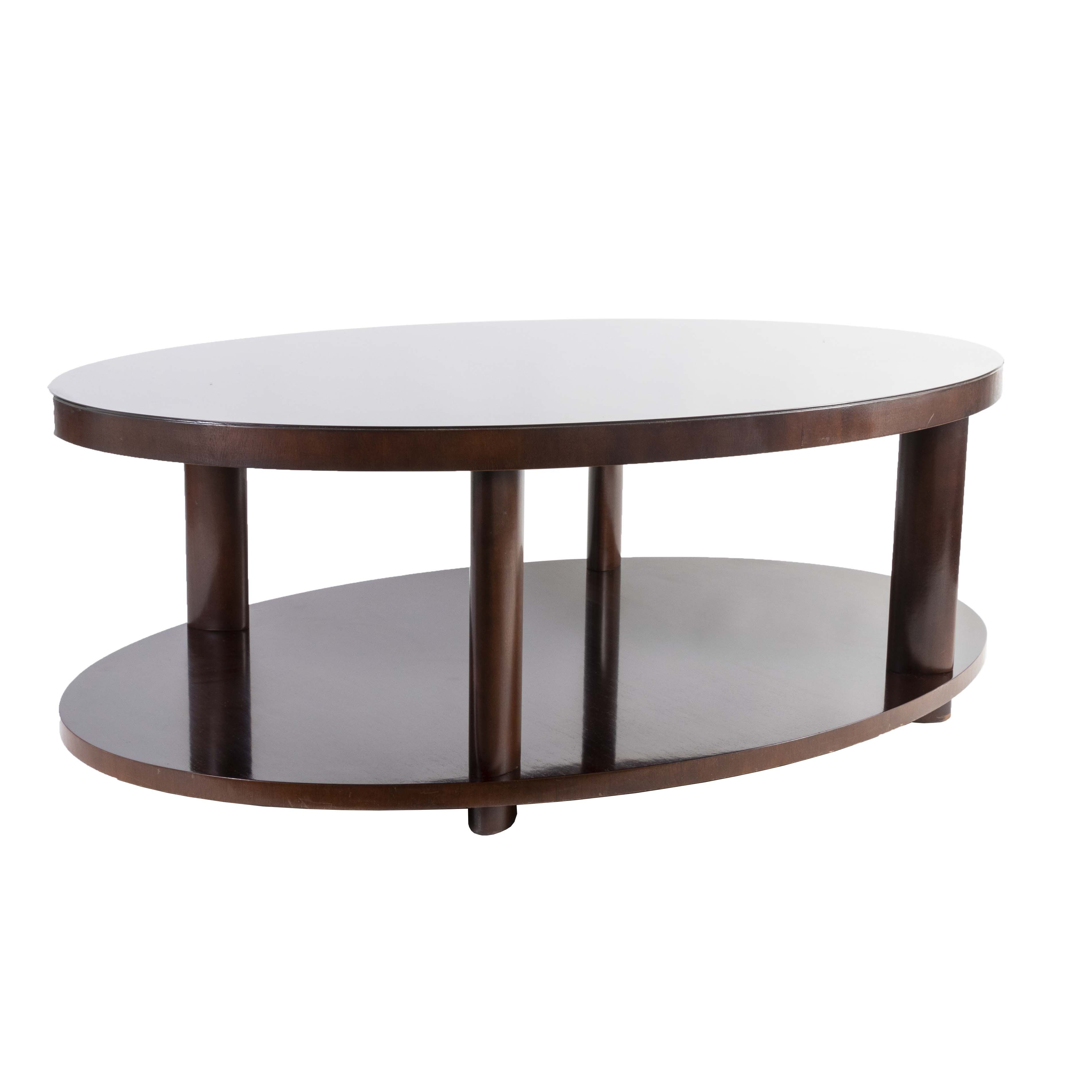 Designed By Barbara Barry For Baker This Modern Oval Coffee Table