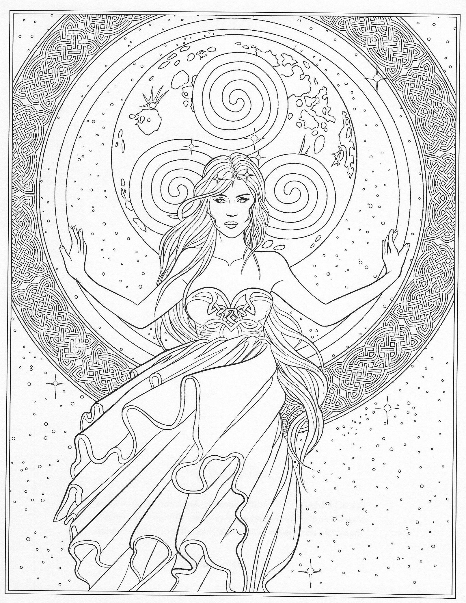 magickbohemian  wicca  coloring books fairy coloring