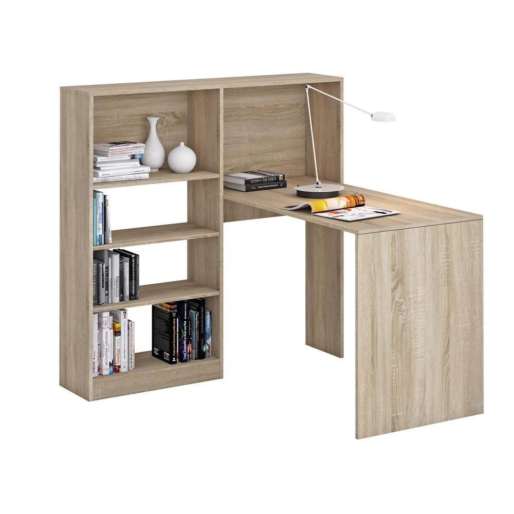 Schreibtisch Mit Regal Sonoma Eiche Buro Pc Computer Eck