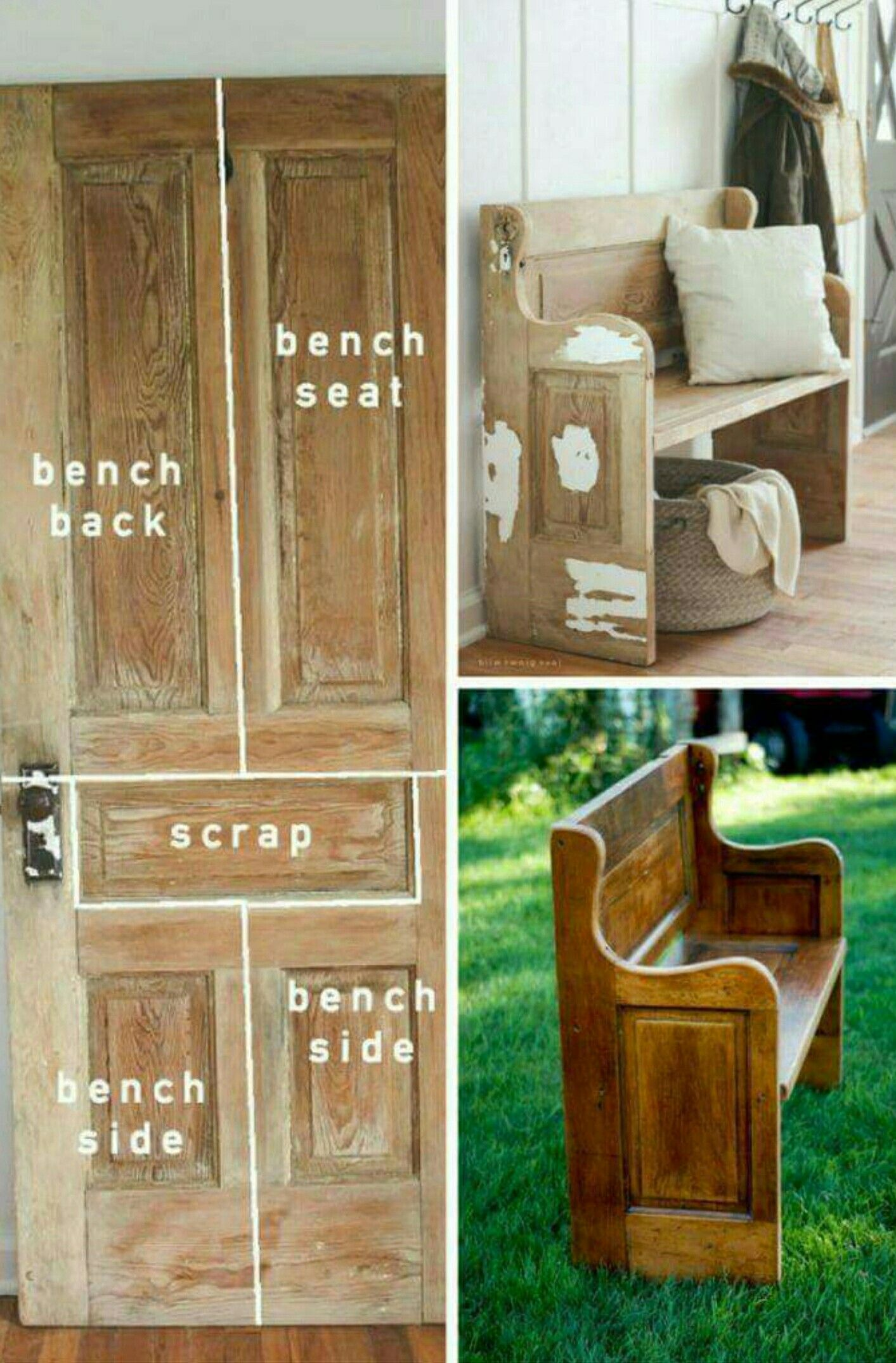 Recycle Furniture Pin By Laura Page On Furniture Recycled Door Diy Recycle