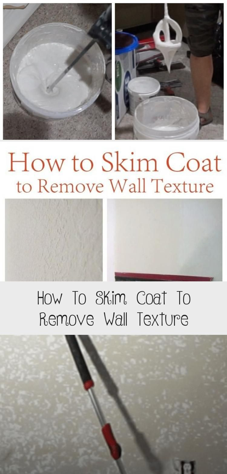 How to skim coat to remove wall texture in 2020 diy home