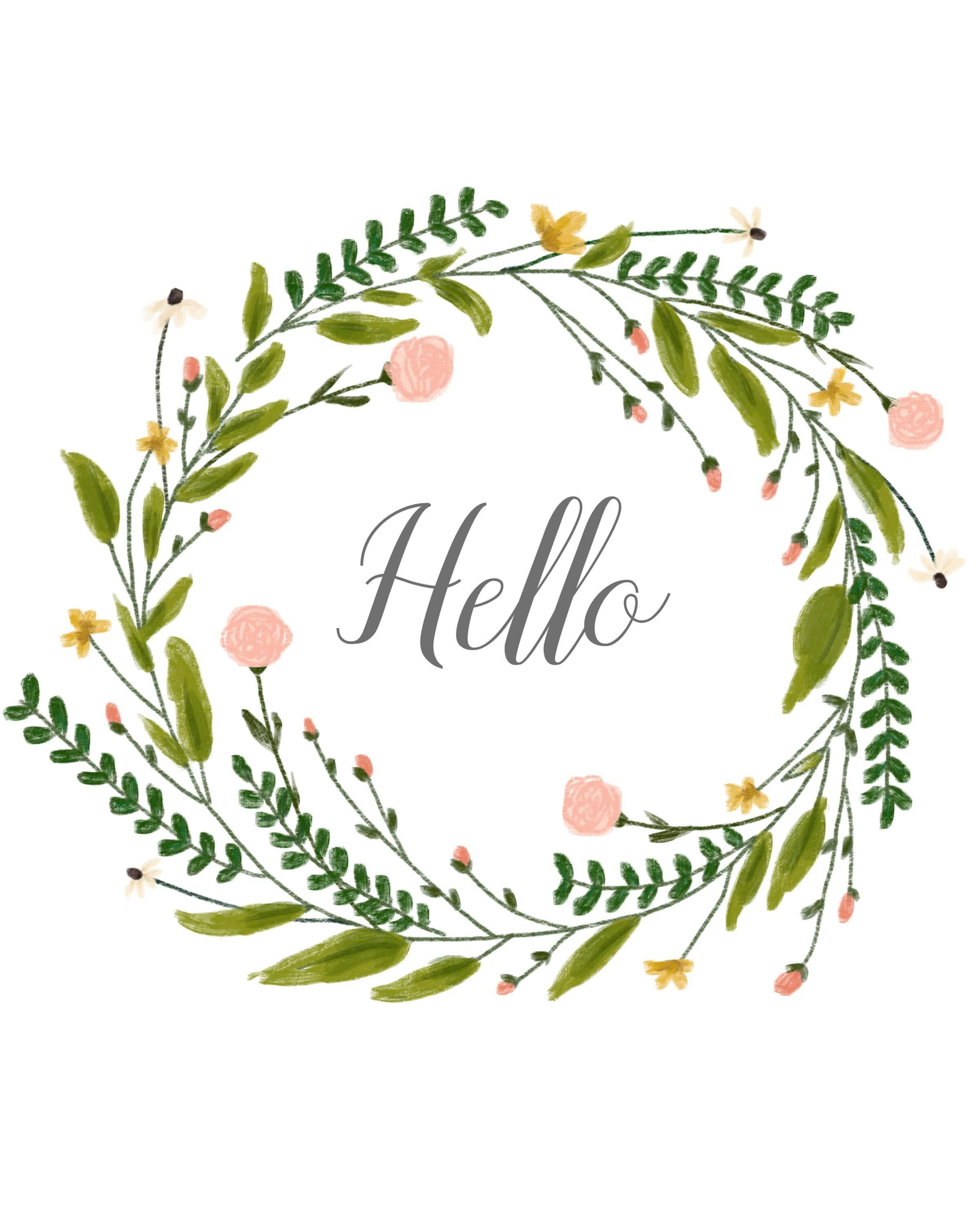wreath template free # 4