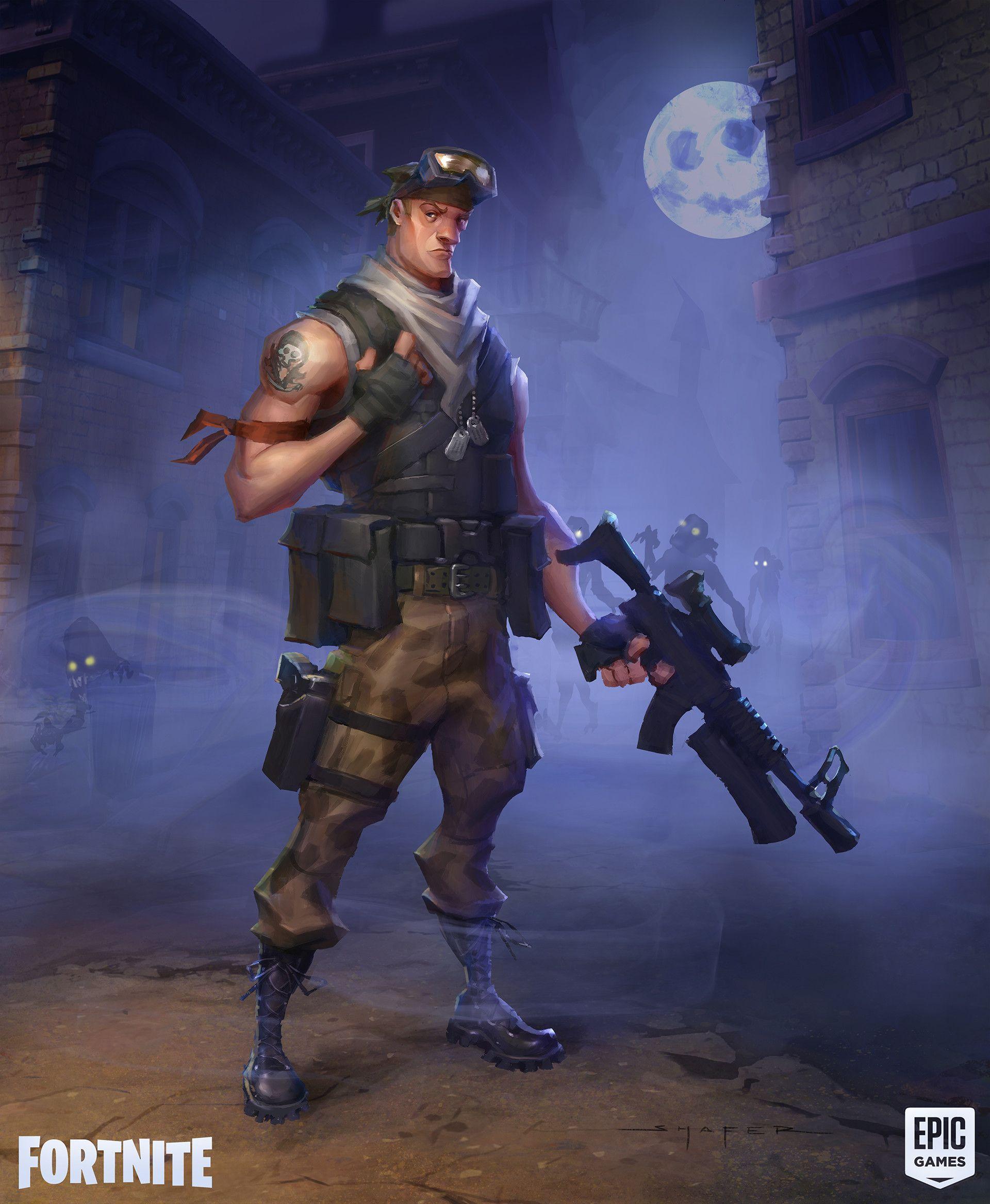 Artstation Fortnite Commando Concepts Ben Shafer Sketches And