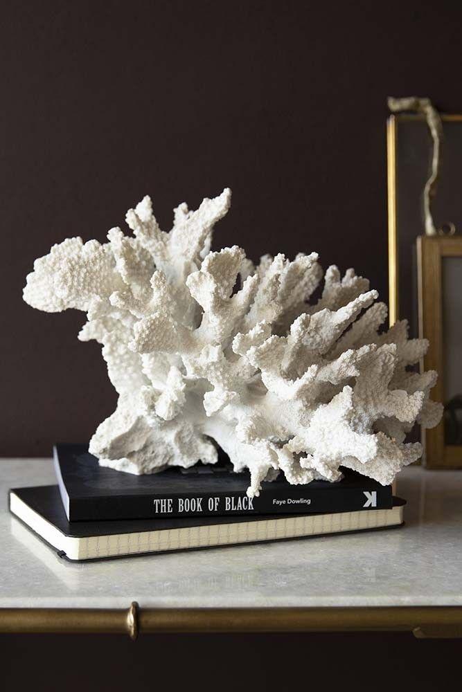 Faux Pure White Coral Ornament #purewhite