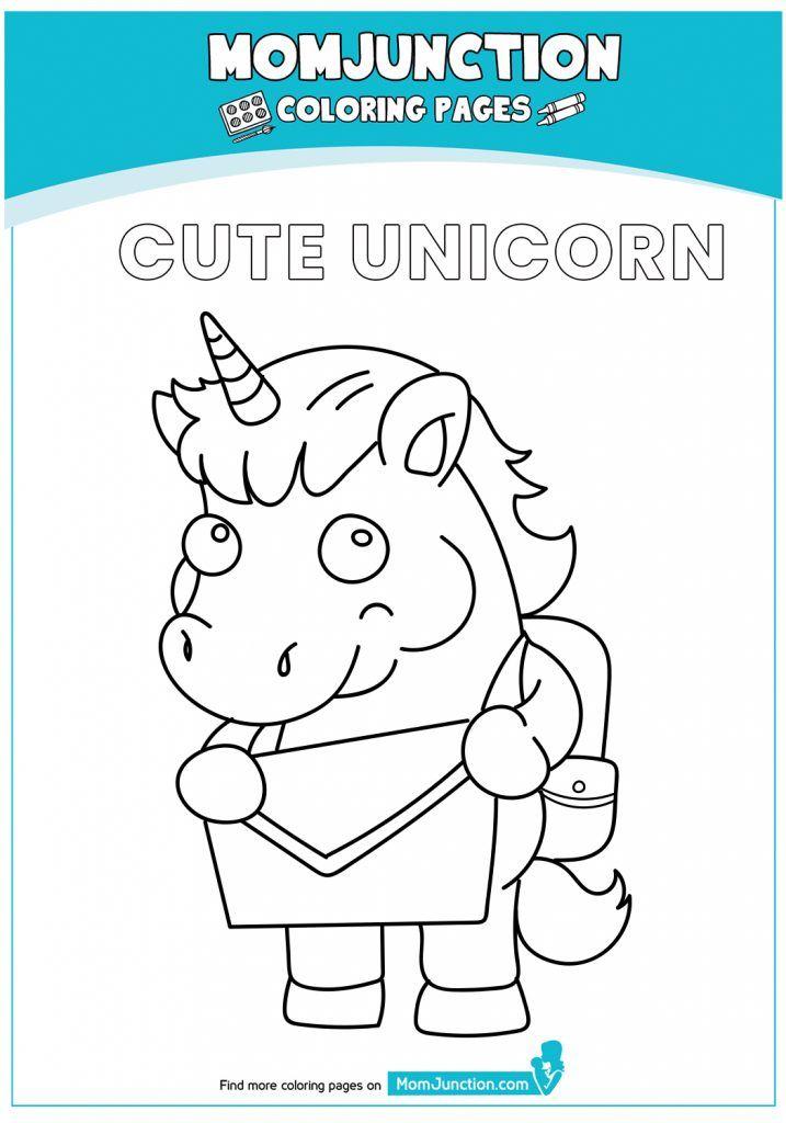 print coloring image - MomJunction   Cute unicorn