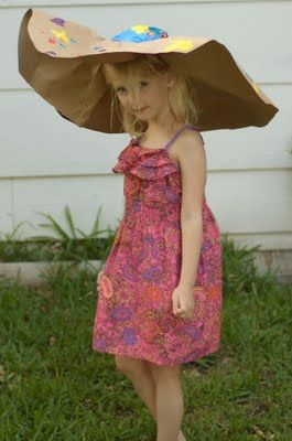 How To Make Your Own Recycled Paper Crazy Big Hat With Images