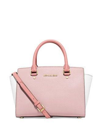 Borse e borsette da donna rosa Michael Kors con cerniera