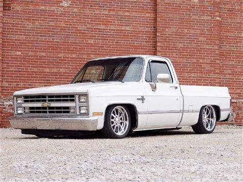 1986 chevy swb lowered with custom wheels hot rods old school pinterest chevy trucks. Black Bedroom Furniture Sets. Home Design Ideas