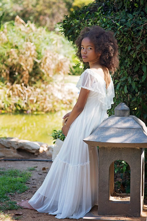 ee1d9b34865 Boho Junior Bridesmaid Dress