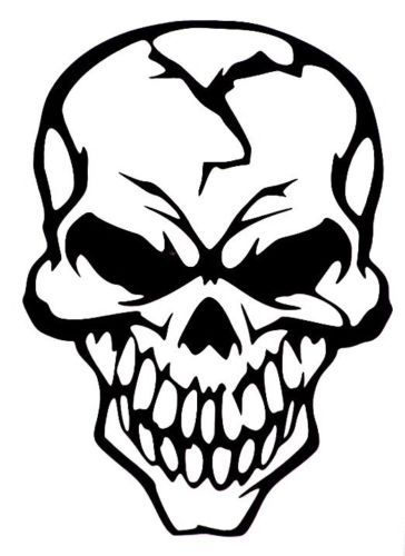 Evil Skull Of Death Car Truck Window Vinyl Decal Sticker