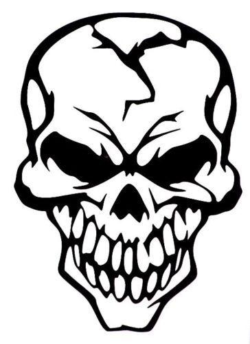 Evil Skull Of Death Car Truck Window Vinyl Decal Sticker