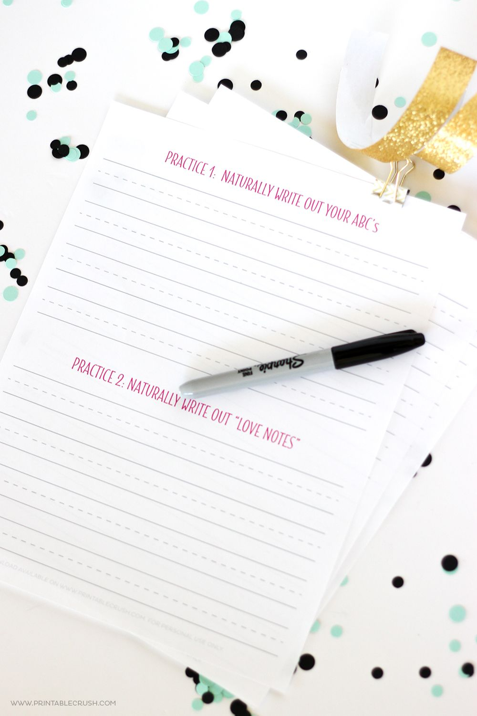 10 Free Brush Lettering Practice Sheets   Pinterest   Schrift und ...