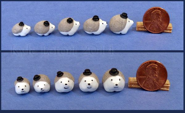 Miniature Hedgehogs Wearing Top Hats by Kyle-Lefort