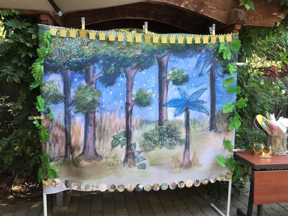Where the Wild Things Are photo backdrop decorated with a ...