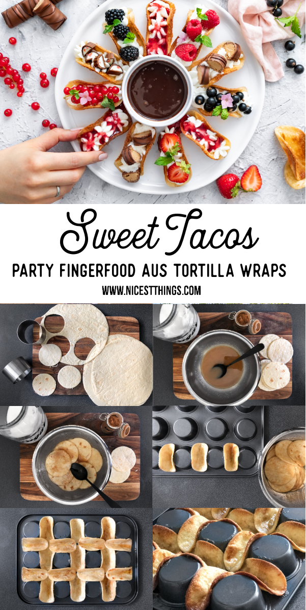 Süße Tacos: Mini Tacos aus Tortilla Wraps mit Früchten - Nicest Things