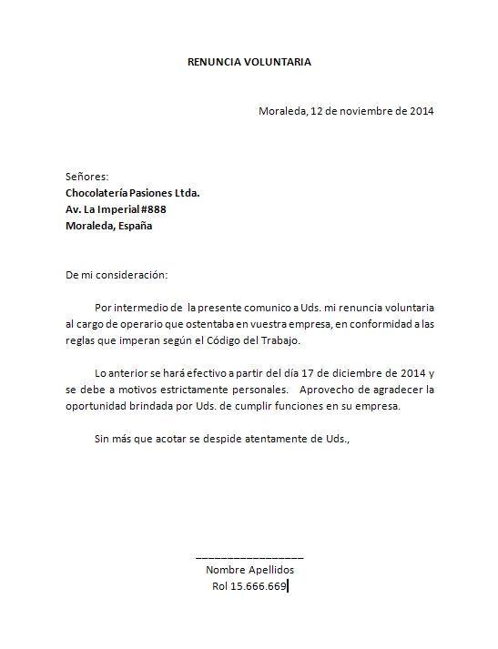 plantilla carta renuncia word: … | Pinteres…