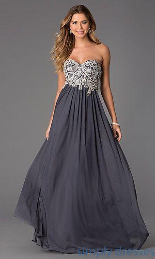 182b79bd62652 Floor Length Strapless Sweetheart JVN by Jovani Dress at SimplyDresses.com