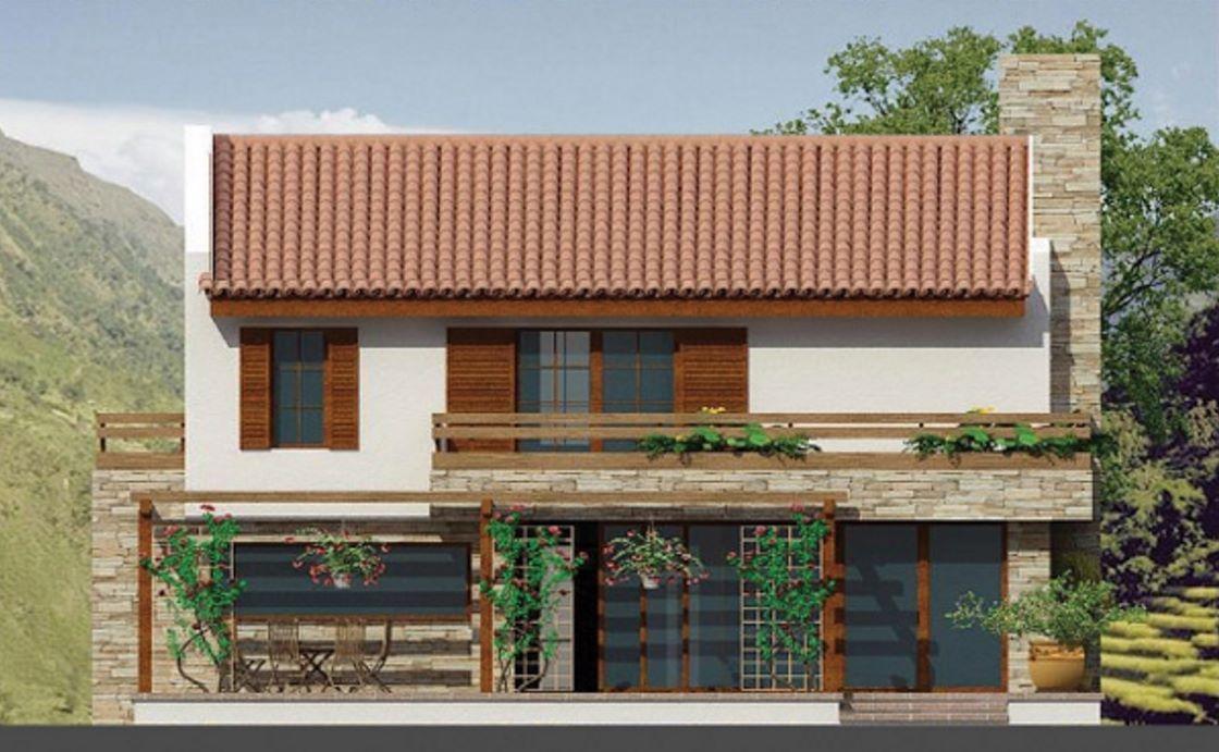 casa con piedra y tejas | ARQUIFAVS | Pinterest | Tejas coloniales ...