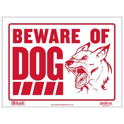 Bazic Beware Of Dog Sign Dog Signs Beware Of Dog Plastic Signs