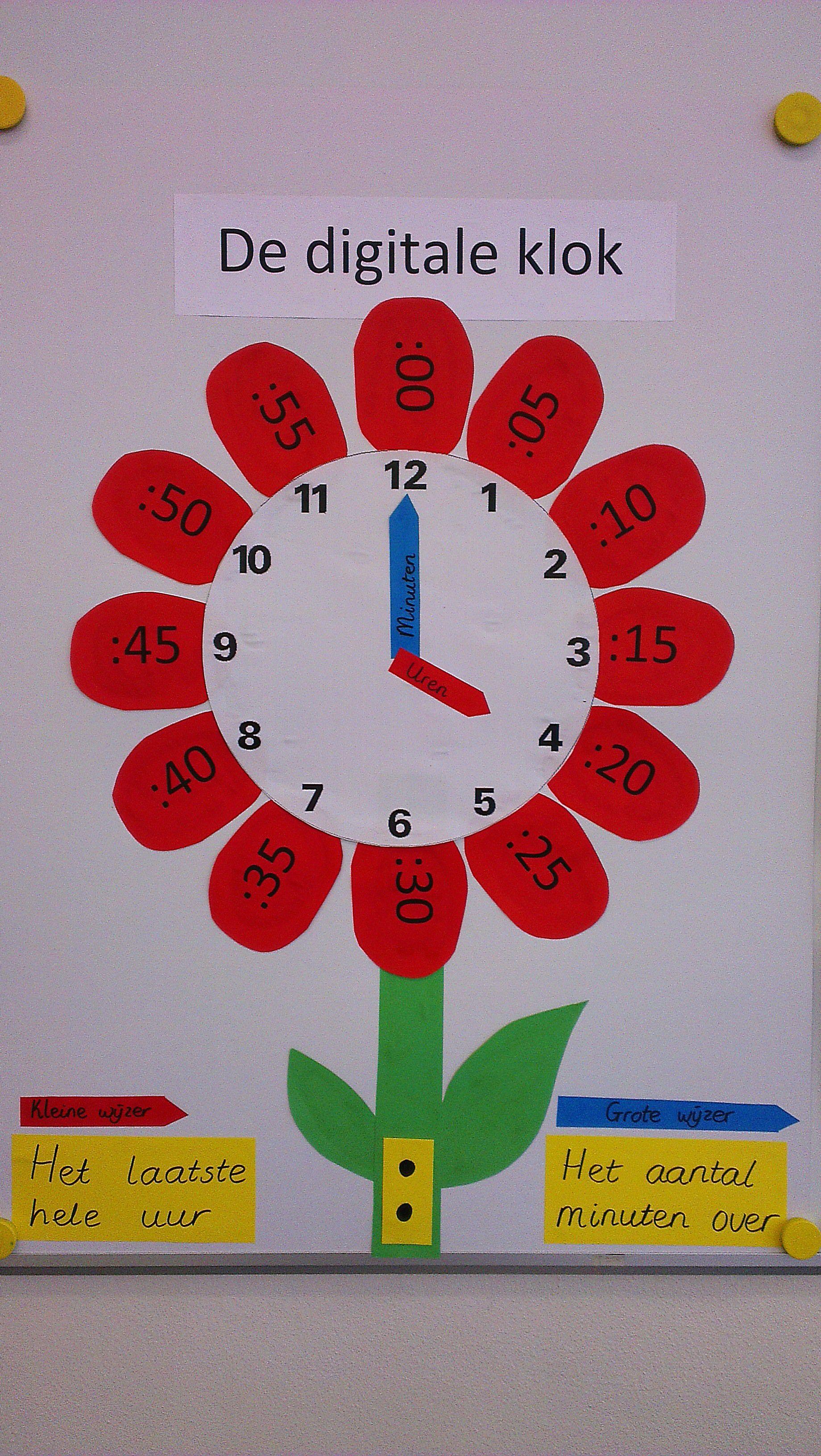 Digitale Klok Tijd In Mijn Klas Groep 5