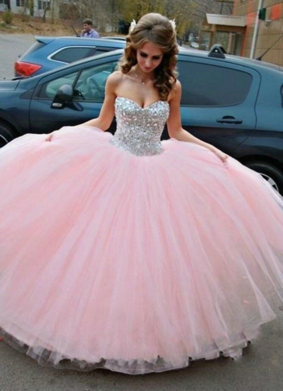 Pink Princess Prom Dress, Prom Dresses, Graduation Party Dresses ...