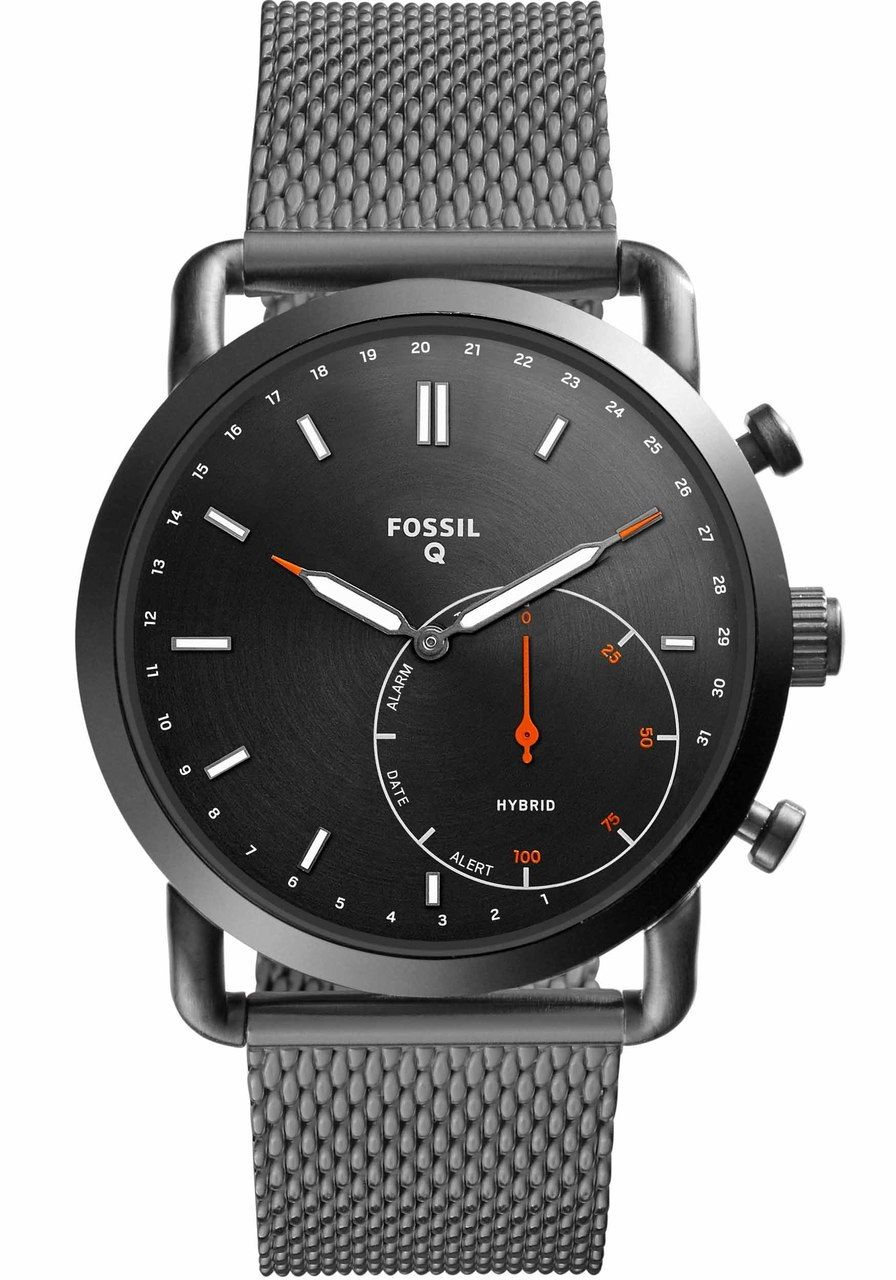 Fossil FTW1161 Hybrid Smartwatch Q Commuter Smoke Mesh