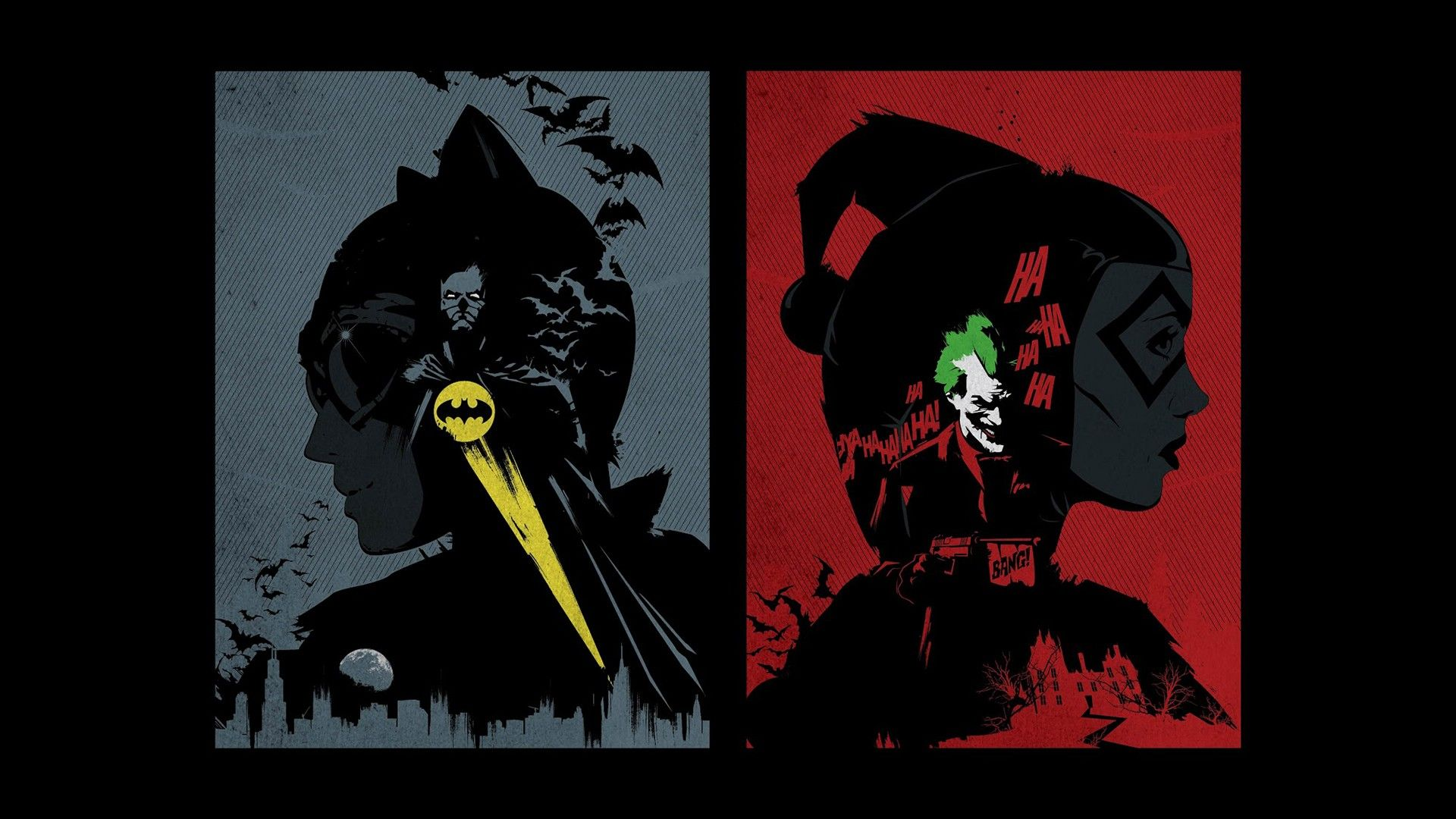 BatmanandCatwomanvsJokerandHarleyQuinn. Batman