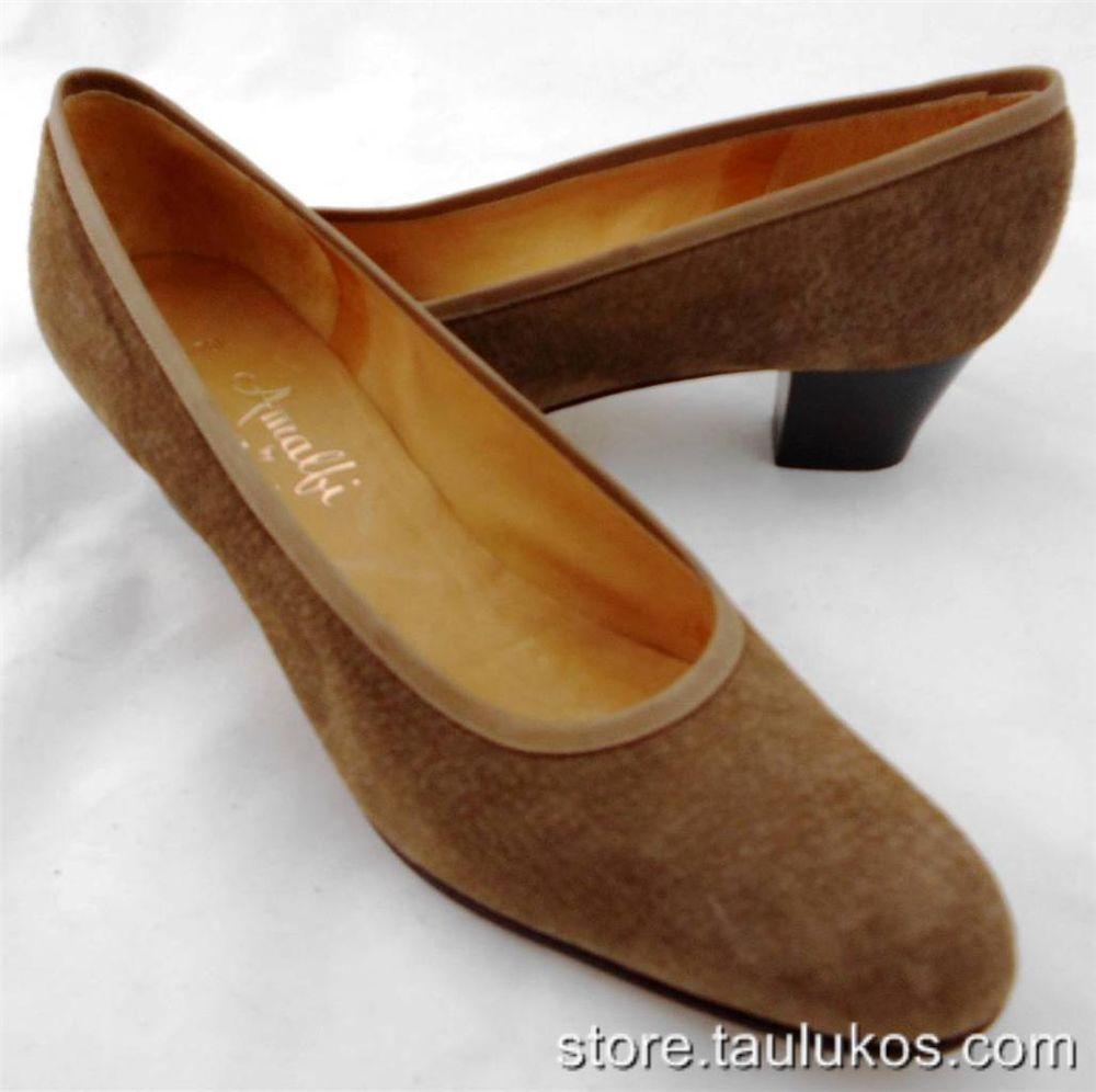 "Womens shoes AMALFI BY RANGONI ""Capitol"" High Heel Pumps ITALY Taupe SUEDE 9.5 N #Rangoni #PumpsClassics"