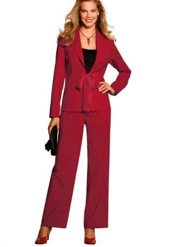 un tailleur pantalon grande taille rouge on adore. Black Bedroom Furniture Sets. Home Design Ideas