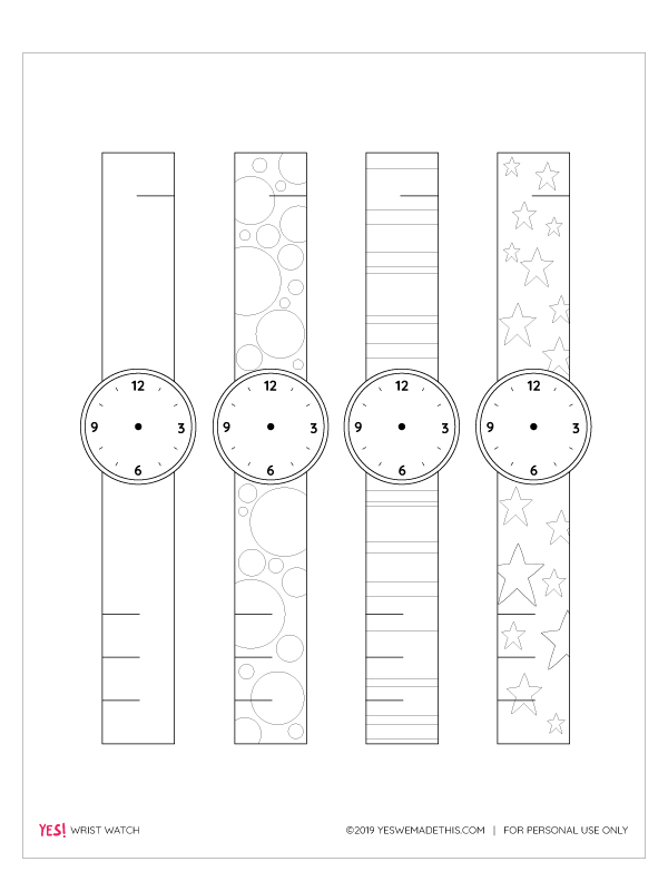 Printable Paper Watch Template For Kids Yes We Made This Paper Watch Learning Printables Colors For Toddlers