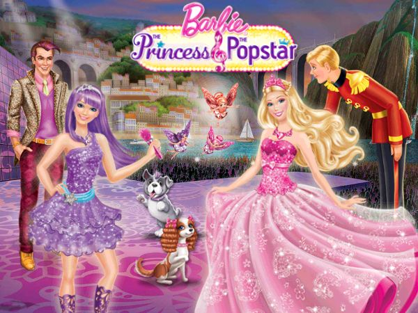 Hasil Gambar Untuk Barbie The Princess And The Popstar Wallpaper Barbie Barbie Barbie