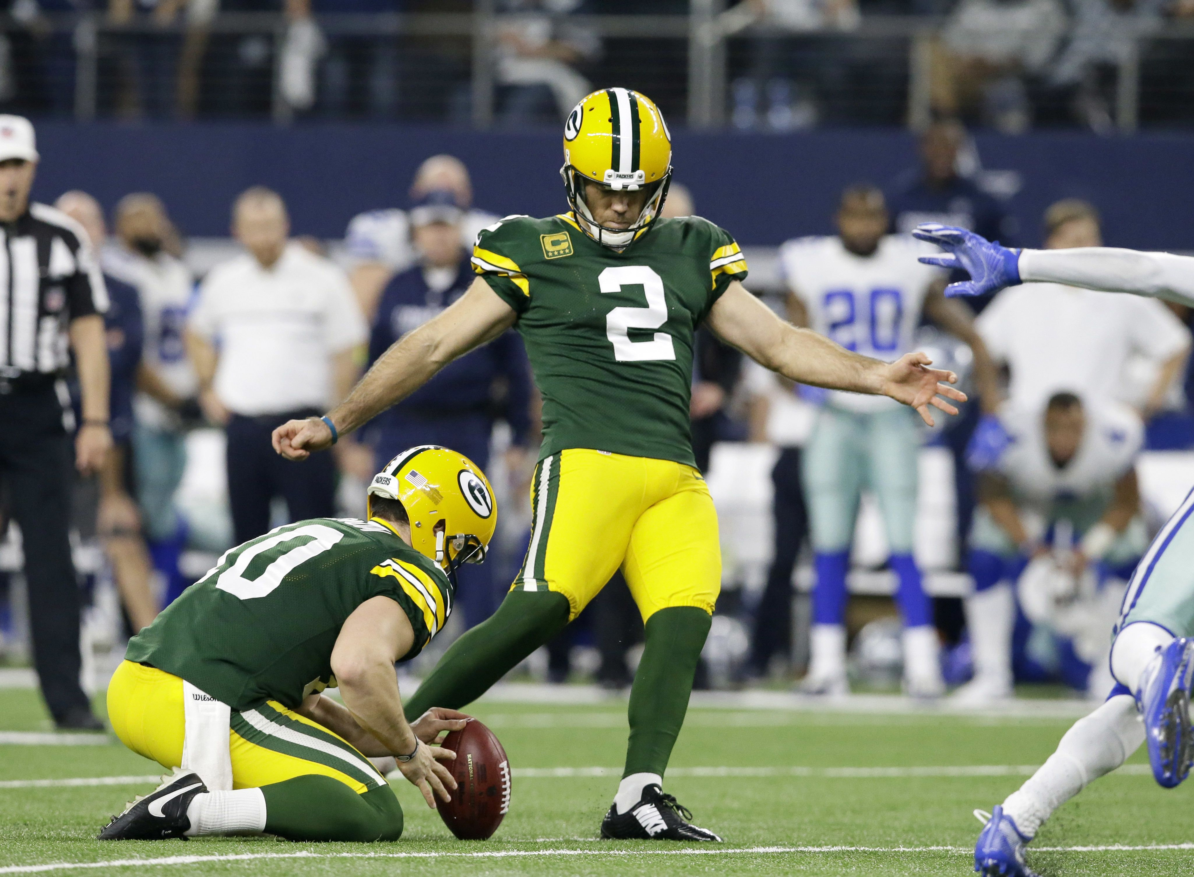 And He Just Gets Better After Kicking A 56 Yard Field Goal Green Bay Packers K Mason Crosby Followed Up By Putting A Packers Green Bay Packers Packers Games