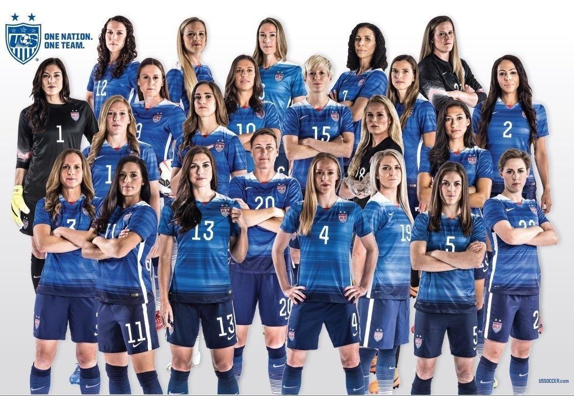 Us Women S National Soccer Team Poster 2015 Us Women S National Soccer Team Usa Soccer Women Women S Soccer Team