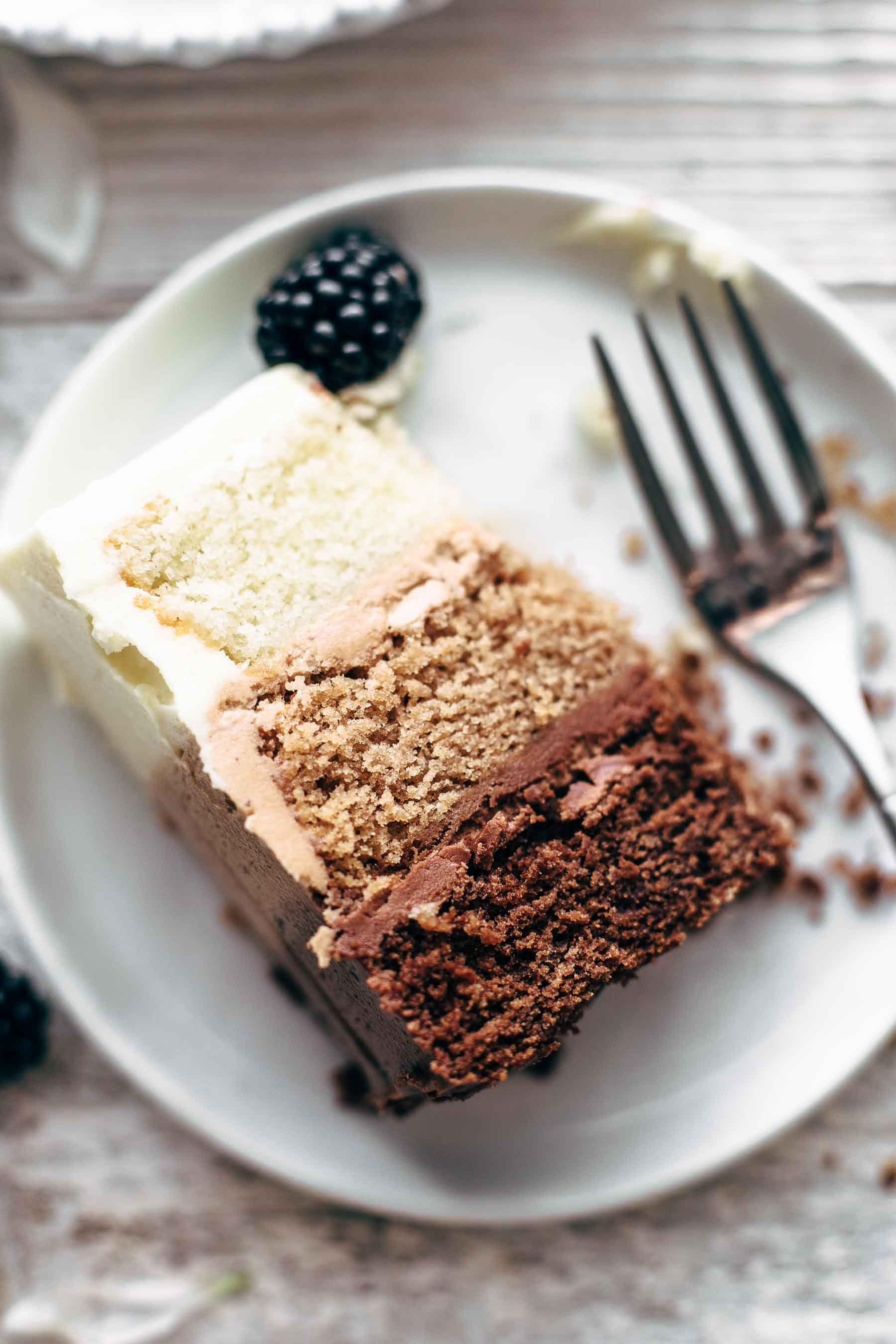 Triple Chocolate Ombre Cake Cake Chocolate Dessert Recipes