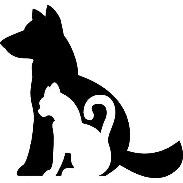 Perros y gatos siluetas juntos descargar iconos gratis - Siluetas para imprimir ...