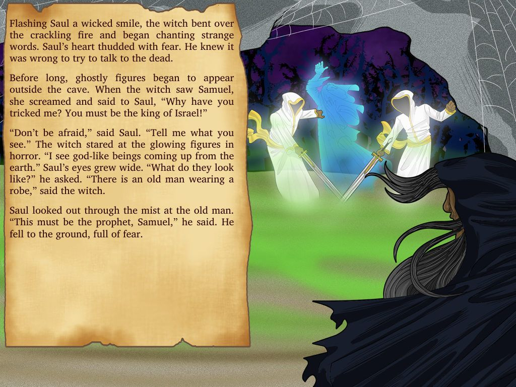 Bible story for Kids: Witch of Endor   Bible stories, Witches and Bible