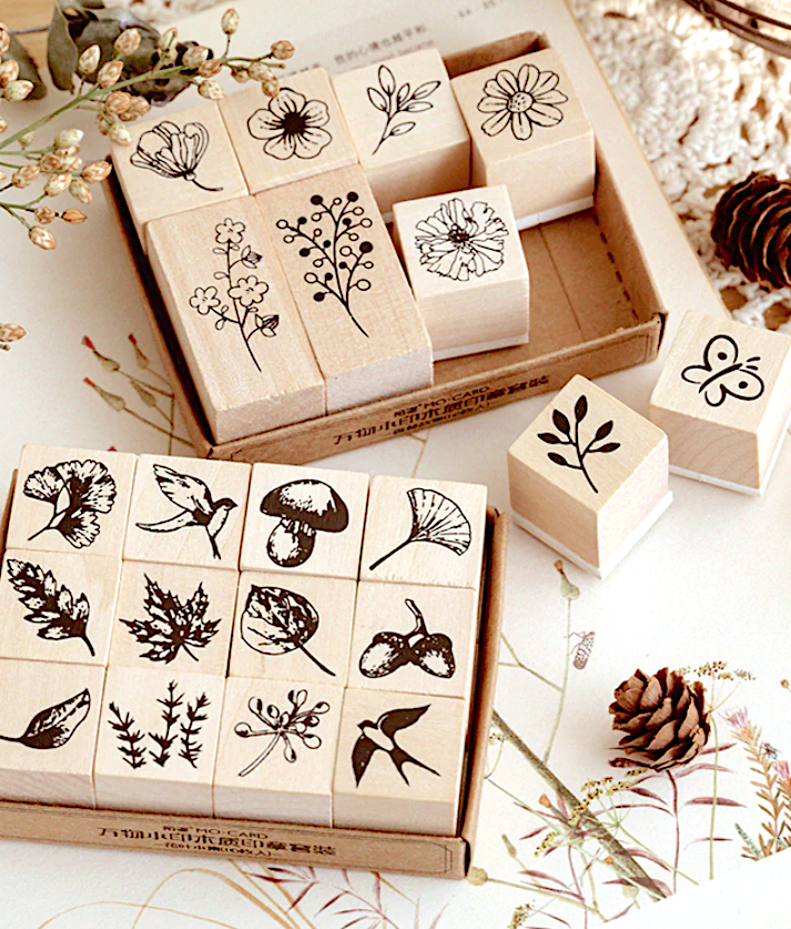 Diary Stamps Wooden Rubber Stamp Seal Week Day Design for Diary Scrapbooking