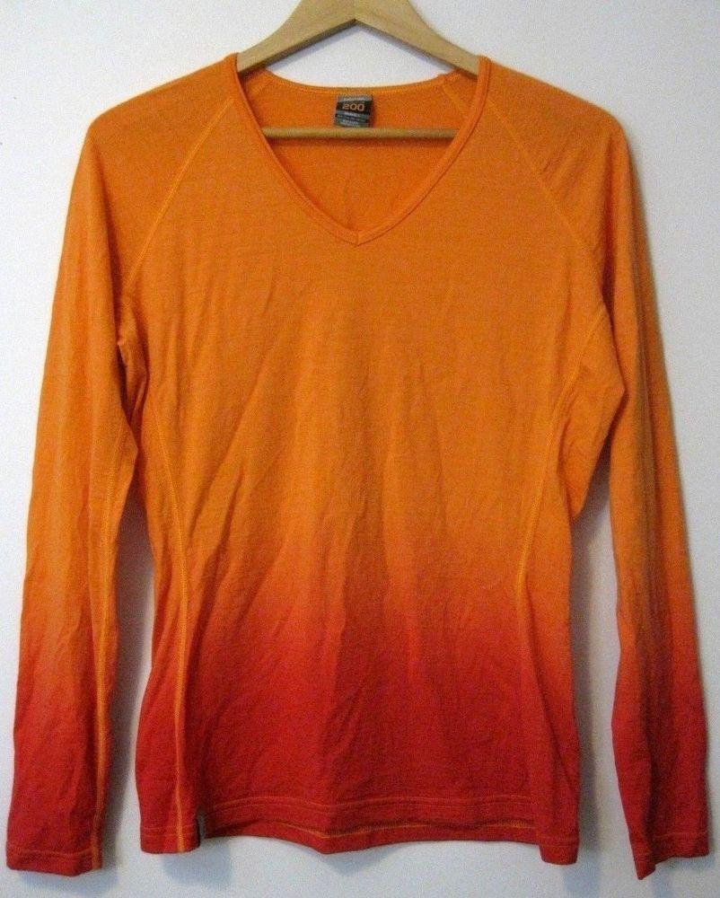 43d68a1372 Icebreaker Women's 200 Bodyfit Long Sleeve Merino Wool Shirt Size L # Icebreaker #KnitTop