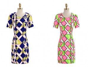 European style exquisite short-sleeved cut in waist plaid dinner dress
