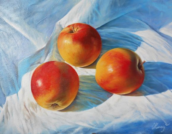 Apples. Still life / Oil on canvas