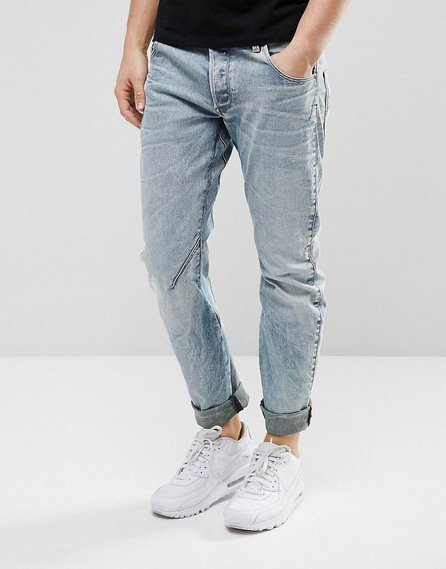 G Star Arc 3D Slim Jeans Light Aged Rip and Repair | Slim jeans