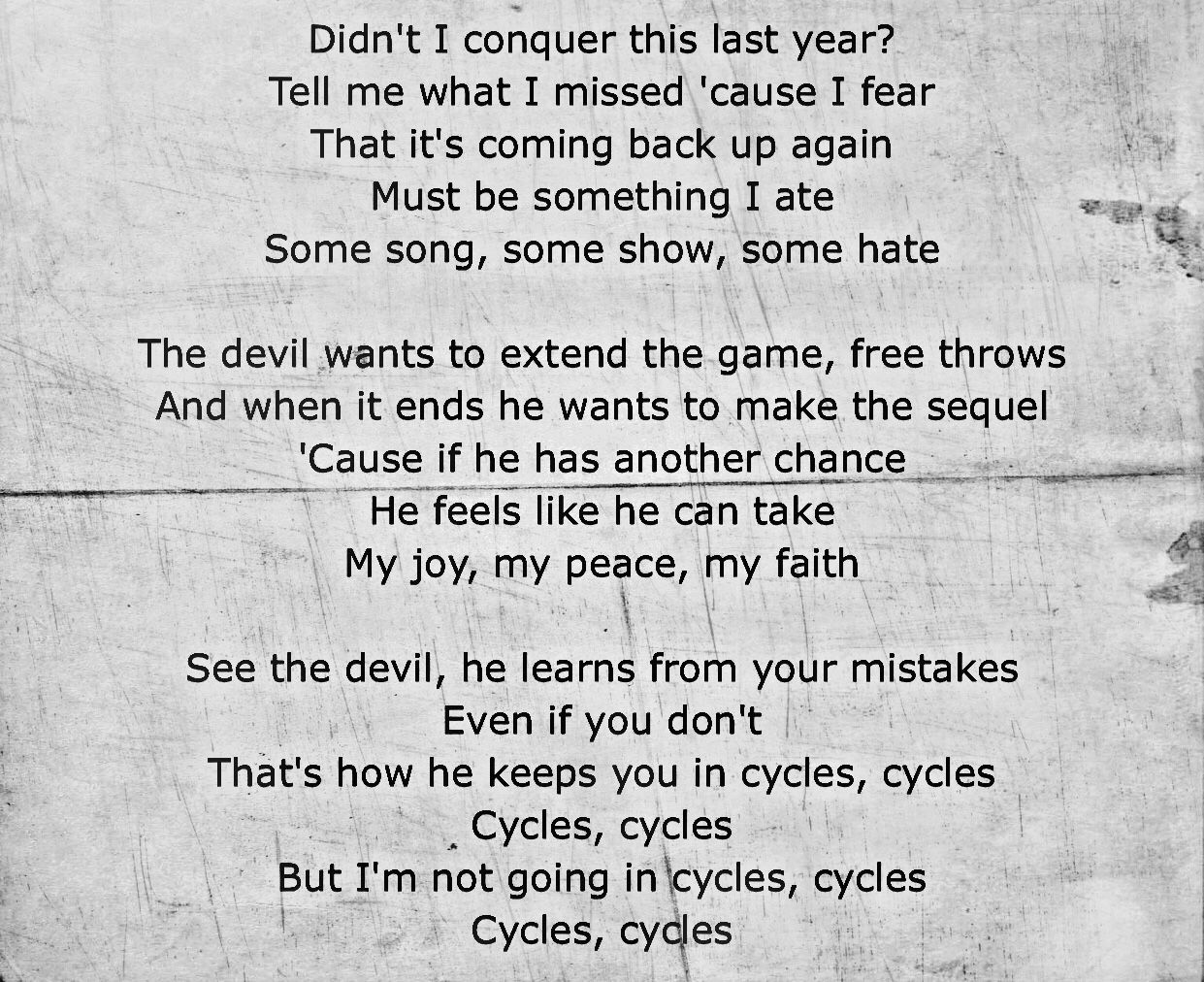 I Love This Song Cycles By Jonathan Mcreynolds Ft Doe Break The