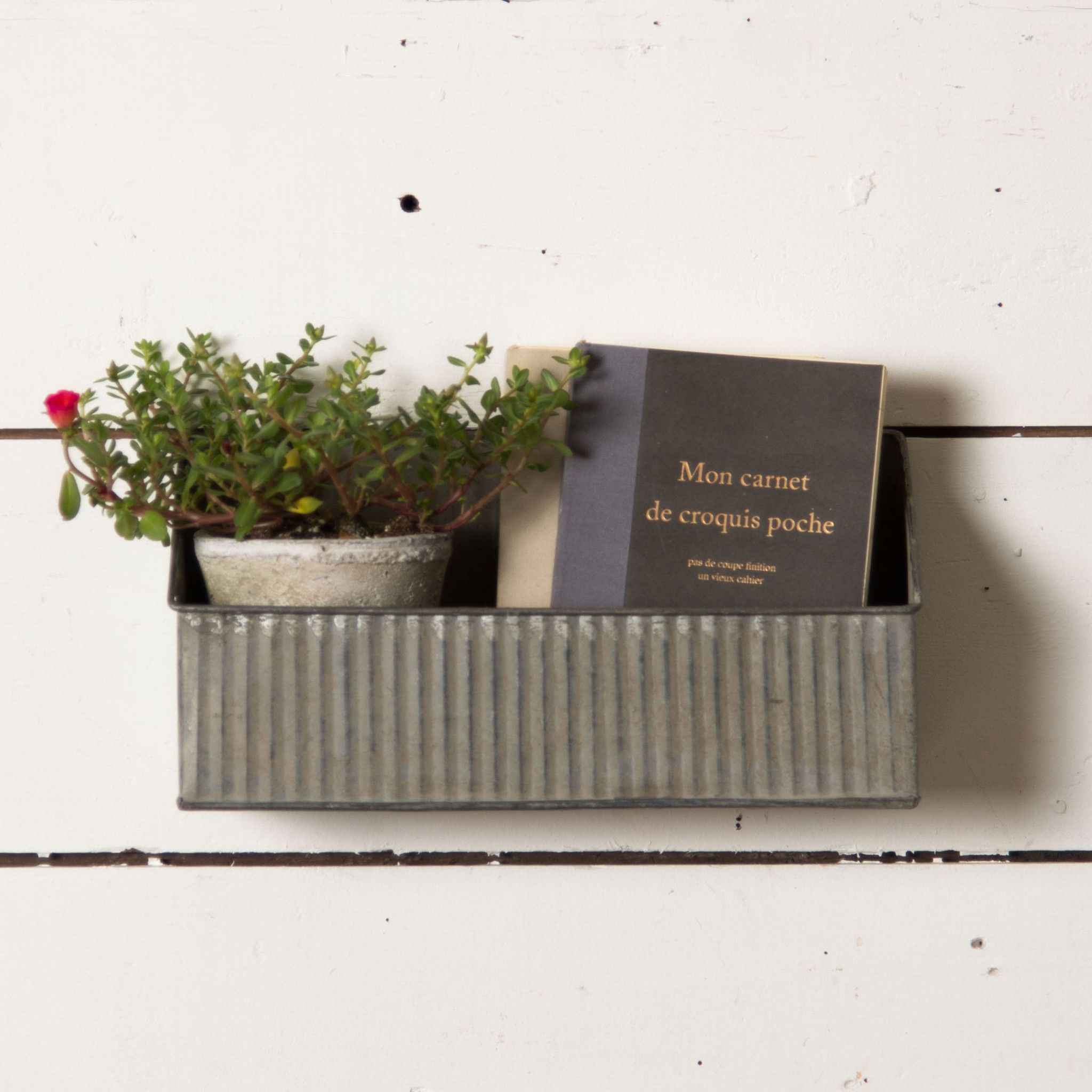 Galvanized Box Wall Shelf Pinterest Magnolia Joanna Gaines And