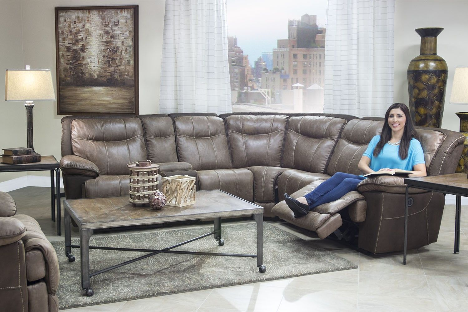 Mor Furniture for Less The Bubba Reclining Living Room