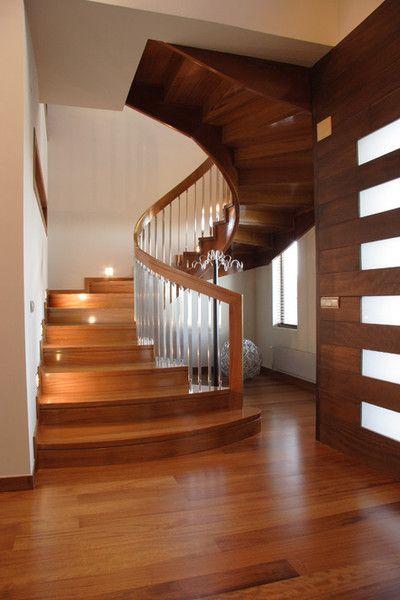 Escalera de madera pared pinterest b squeda - Disenos de escaleras de madera para interiores ...
