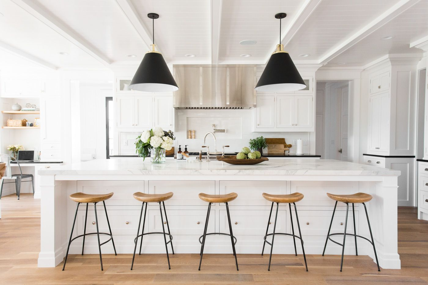 Black,+white,+and+natural+wood+kitchen+tour+by+Studio+McGee+# ...