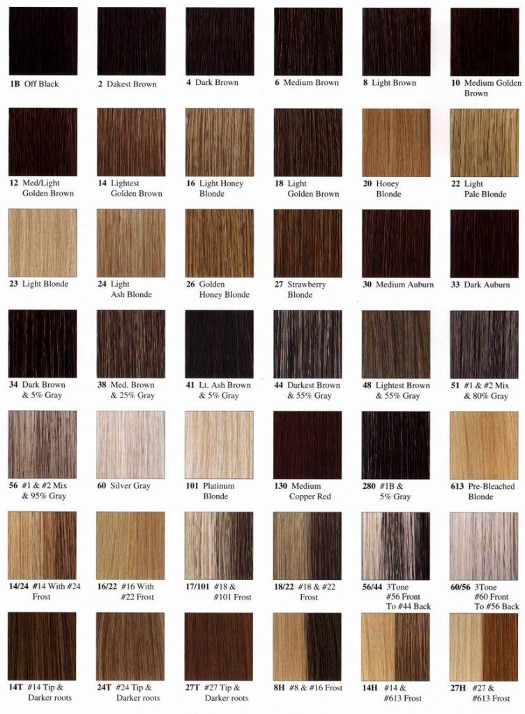 For Writing  Hair Color  Name Chart  Hair Colors