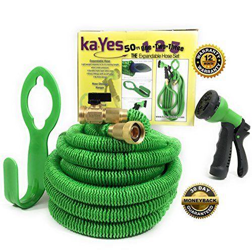 kaYes Expandable Hose Kink Tangle Free Garden Hose Storage Hanger ...