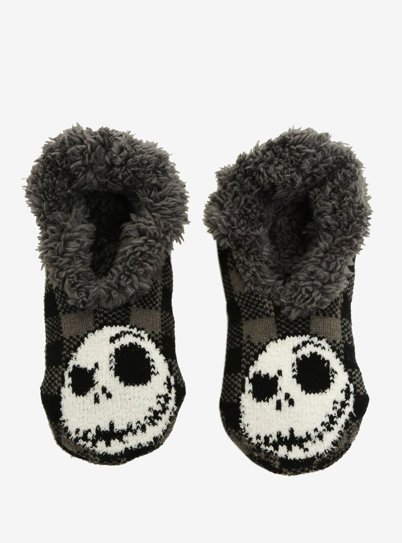 The Nightmare Before Christmas Plaid Cozy Slippers | Tim burton and ...