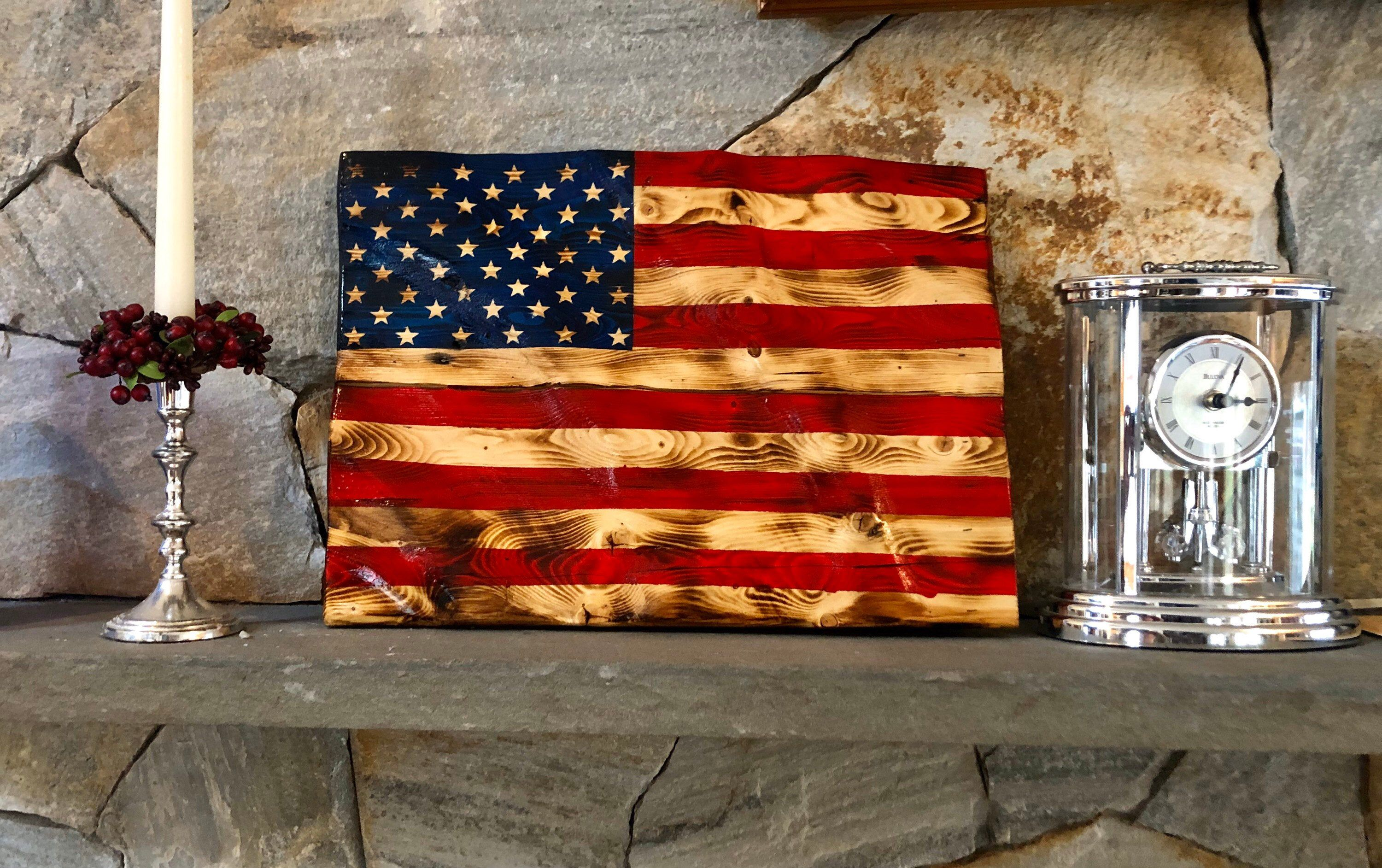 Wooden American Flag Wall Hanging Waving Wooden Flag Design Waving Stars And Stripes In 2020 Wooden American Flag American Flag Wall Hanging Wooden Flag